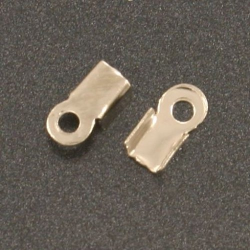 Koncovka plochá 3x6mm platinová 50 ks