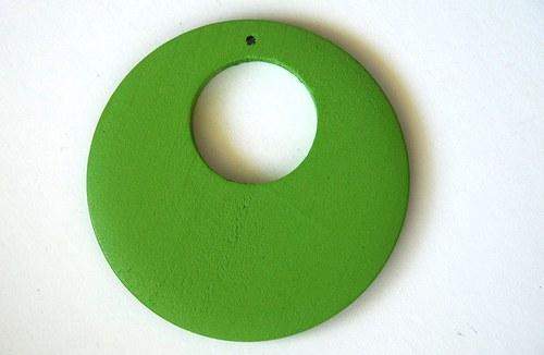 Dřevěné kolečko - světlé zelené