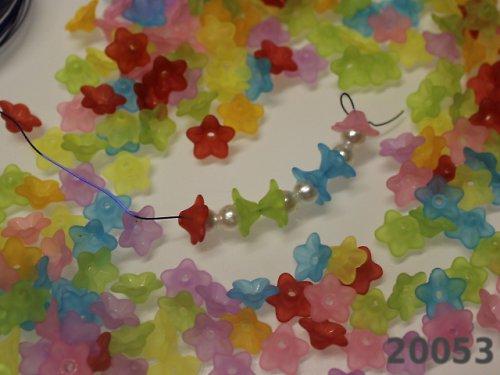 20053 Kaplík akrylový 10/4 kytička bal.35ks
