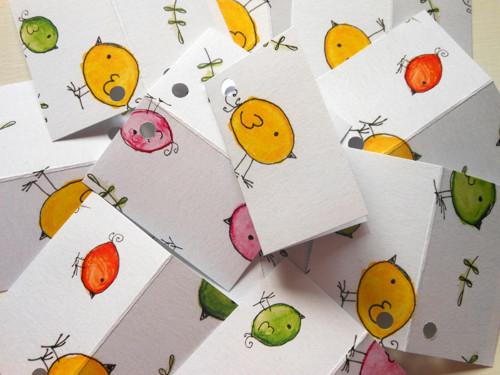 Ptačí  - sada 12-ti dárkových visaček