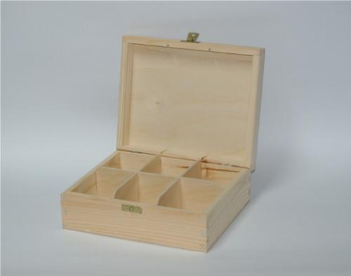 Dřevěná krabička na čaj 6