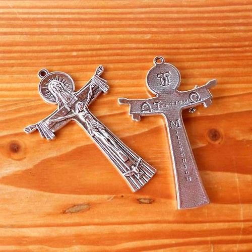 Kříž Milennium 76mm - Platinový