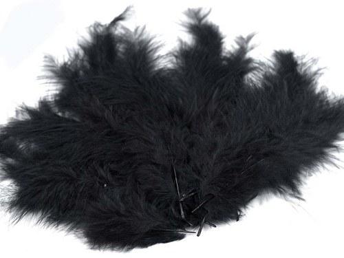 Pštrosí peří délka 120-170mm 20ks černá