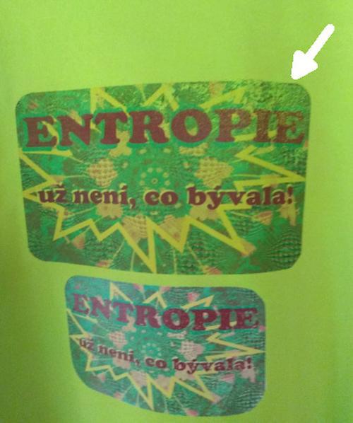 Entropie už není co bývala /triko zelené limet