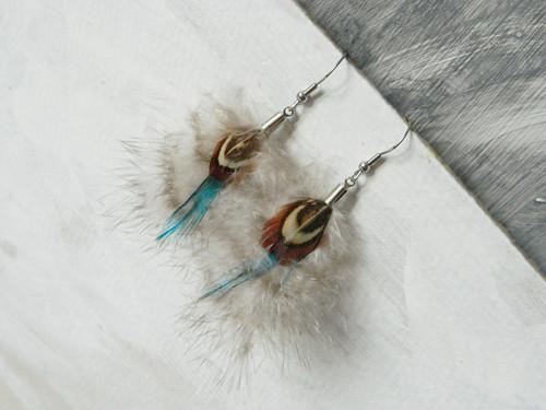 """peříčkové náušnice mini - kolekce \""""MARABOU\"""""""