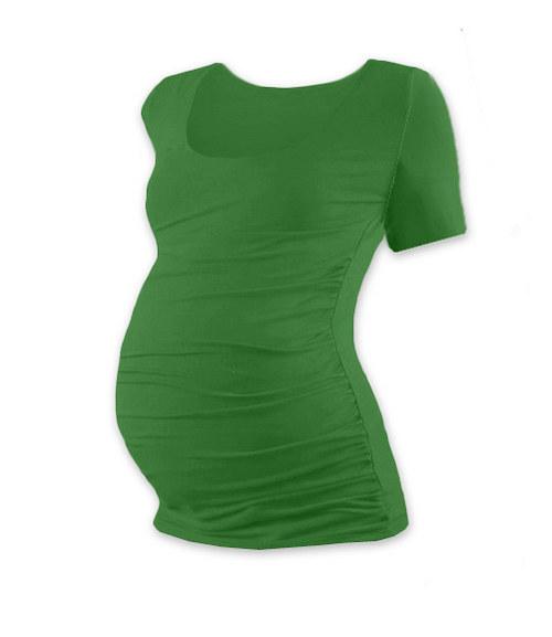 Těhotenské tričko KR tmavě zelené