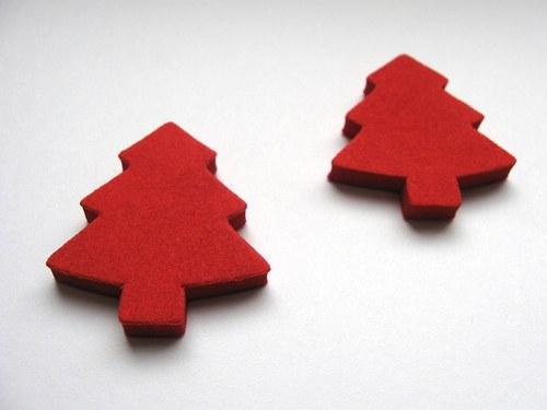 Výsek z pěnové gumy - strom červený