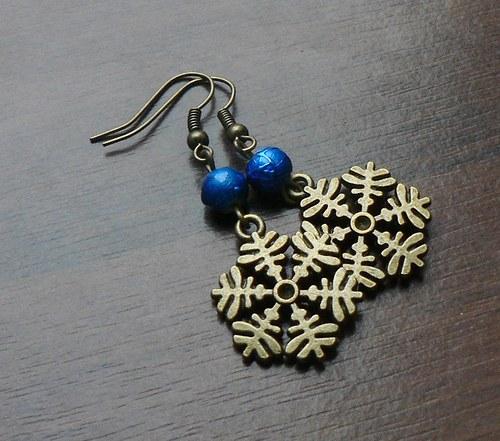 Vánoční bronzové vločky