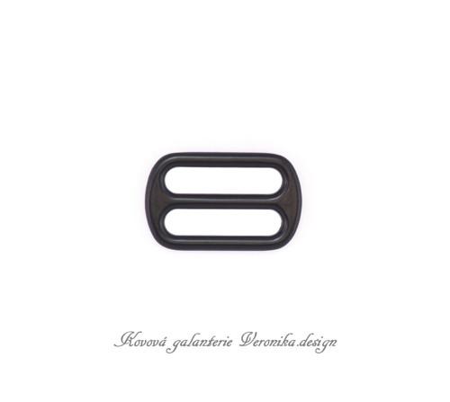 Galanterní průvlečka 20mm- litá černá