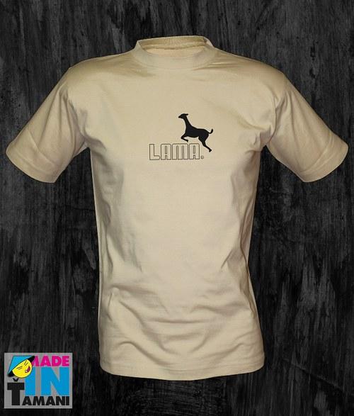 Pánské pískové tričko s Lamou 05