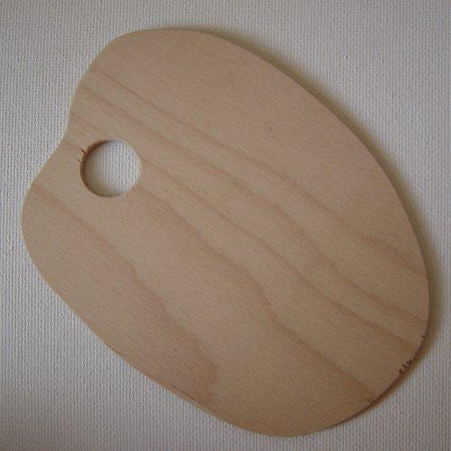 Dřevěná malířská paleta