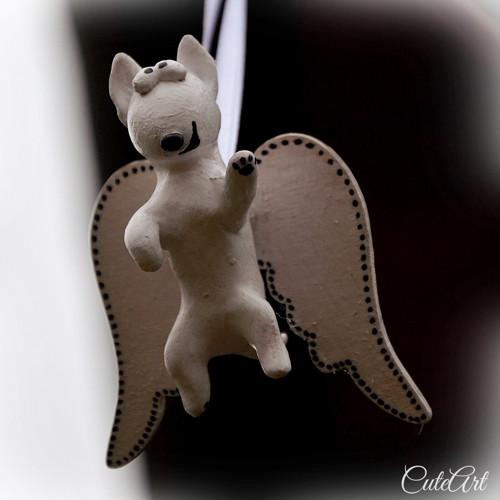 Strážny anjel - bulteriér - závesná dekorácia