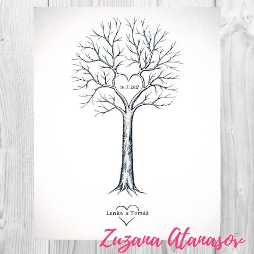Svatební strom vysoký 40 x 50 cm