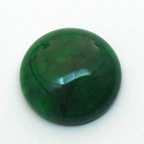 Kabošon zelený dračí achát kruh 20mm