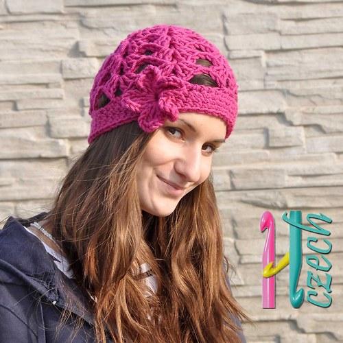 Čepice vzoreček - vyberte si barvy.