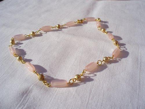 Zlato-růžový náhrdelník