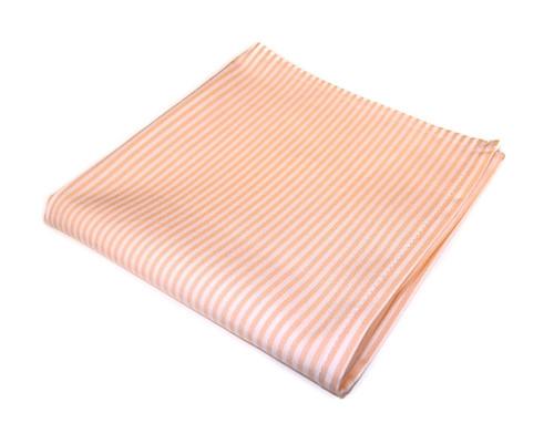 Kapesníček do saka bílý s oranžovými proužky