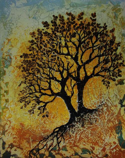 Stromy a sluneční den
