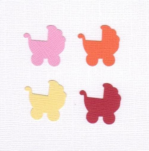 Kočárek - mix barev (21 ks)
