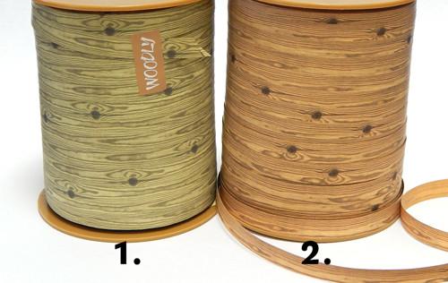 Stuha papírová, šíře 10 mm, imitace dřeva, č.1