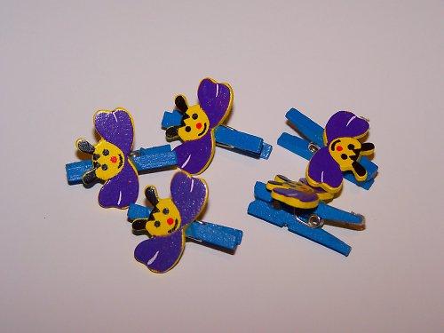 Kolíčky s motýlem