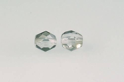 Ohňovka 6 mm krystal s pokovem 22601 30ks