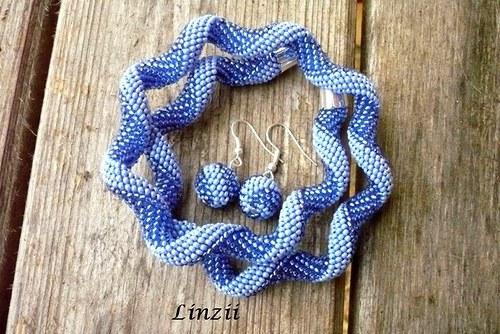 Modrá spirála - náhrdelník