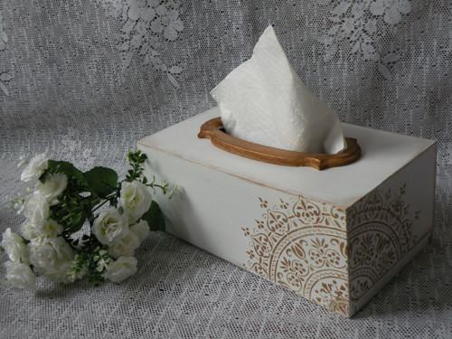 Krabička na kapesníky velká s mandalou