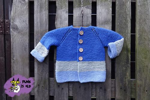 Svetřik-kabátek  pro miminko asi 6-9 měs