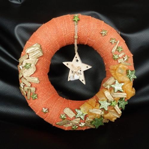Vánoční věnec oranžový s hvězdou