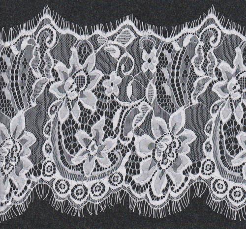 Designerská francouzská krajka bílá š.18 cm