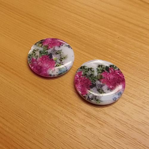 Perleťové placky 20 mm  - 2 kusy