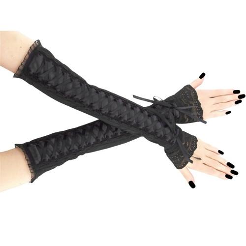 Společenské dámské rukavice černé gothic 0R14