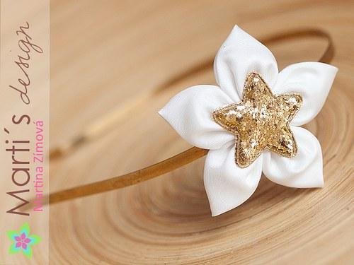 čelenka pevná s květinou vánoční · Marti´s design 3f6a20ee8e