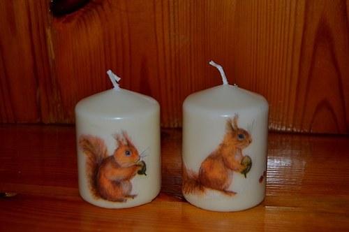Svíčka - veverky