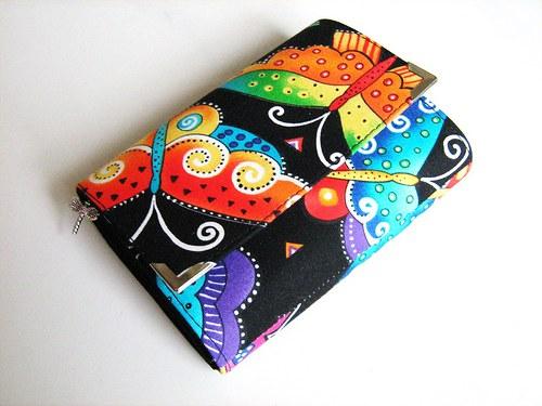 Motýlí duha - zipová i na karty