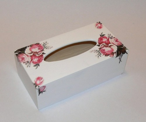 Krabička na kapesníčky - růžičky