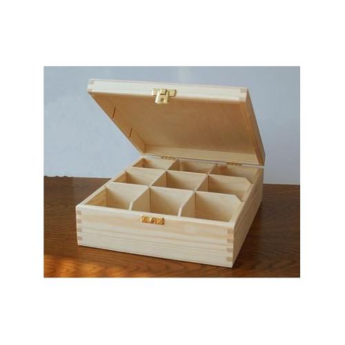 Krabička na čaj - 9 komor (PHU-CAJOVKA-9)