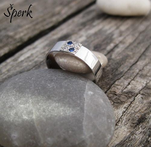 Prsten - bílé zlato