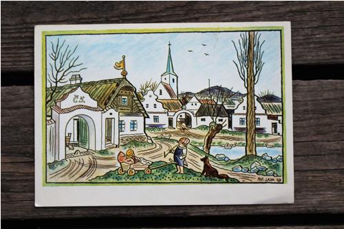 Velikonoční pohlednice Josefa Lady č.8