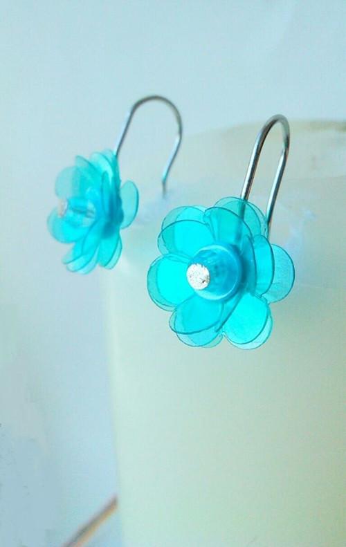 Blankytně-modré pomněnky - autorské náušnice
