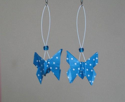 Blankytní motýlci - náušnice