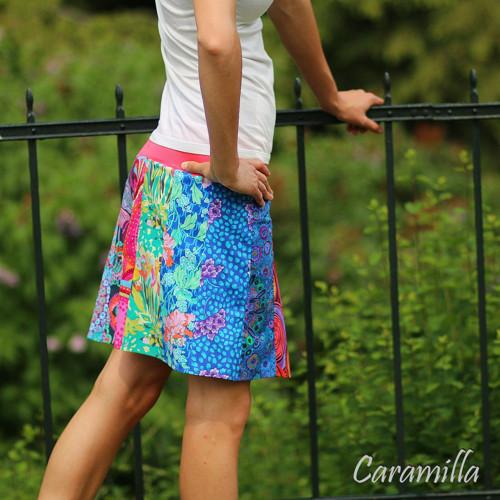 Patchwork sukně krátká MULTICOLOR (i těhu) M ihned