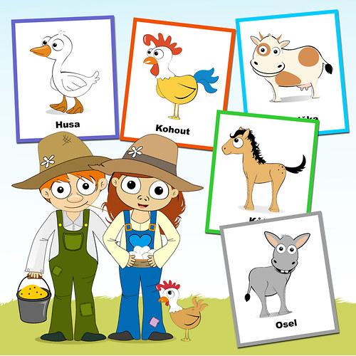 U nás na farmě - kartičky :o)