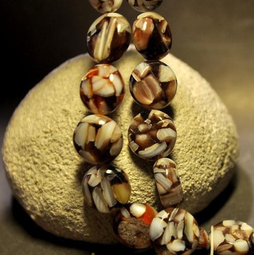 PER911 Perleť kolo Brown 14 mm