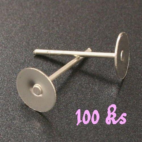 Stříbrné náušnicové puzety 12x6mm 100ks