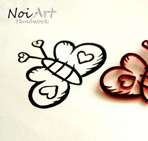 Razítko motýľ