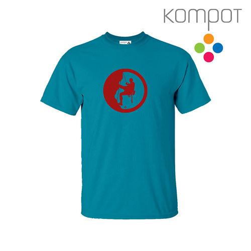 Pánské tričko HOROLEZEC :: modré, vel. S-2XL