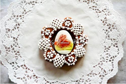 Velikonoční perníkové kolečko - se zajíčkem