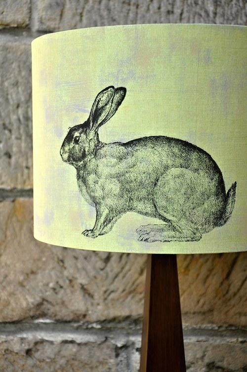 Stínítko na lampu Zajíc-stolní